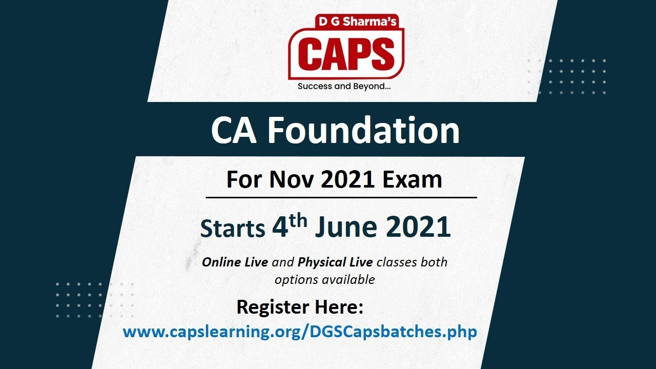 Admission Open for CA Foundation